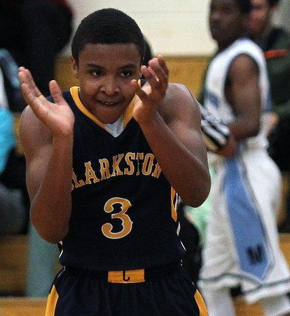 Clarkston sophomore CJ Robinson has had reason to celebrate with the North Oakland Wolfpack.